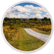 Yesterday - Virginia Country Road Round Beach Towel