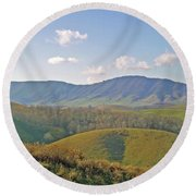 Virginia Mountains  Round Beach Towel