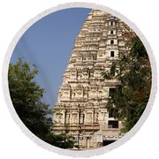 Virupaksha Temple In Hampi Round Beach Towel