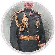 Viscount Kitchener Of Khartoum Round Beach Towel
