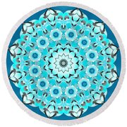 Vishuddha Severity Round Beach Towel