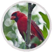 Vision In Red Round Beach Towel