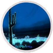 Vision Of A Desert Night Round Beach Towel