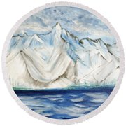Vision Of Mountain Round Beach Towel