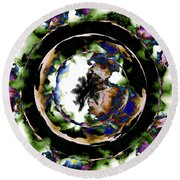 Visions Echo In The Crystal Ball Round Beach Towel