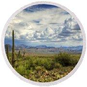 Visions Of Arizona  Round Beach Towel by Saija  Lehtonen