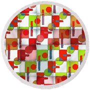 Visions Of Future Past Round Beach Towel