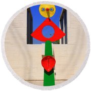 Visions Of Miro Round Beach Towel