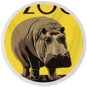 Visit The Philadelphia Zoo Round Beach Towel