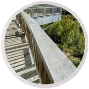 Visitor's Center Lookout Round Beach Towel