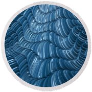 Visual Cortex Round Beach Towel
