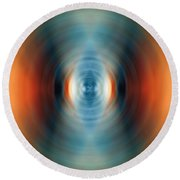 Vitality - Energy Abstract Art By Sharon Cummings Round Beach Towel