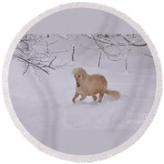 Viva Zapata Contratercero Dances In The Snow Round Beach Towel