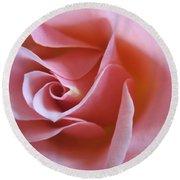 Vivacious Pink Rose 2 Round Beach Towel