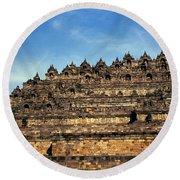 Vivid Borobudur Round Beach Towel