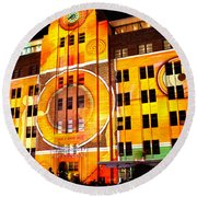 Vivid Sydney 2014 - Museum Of Contemporary Arts 2 By Kaye Menner Round Beach Towel
