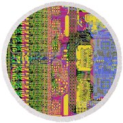Vo96 Circuit 4 Round Beach Towel