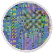Vo96 Circuit 7 Round Beach Towel