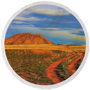 Volcano Road Round Beach Towel