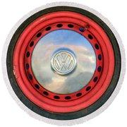 Volkswagen Vw Wheel Emblem Round Beach Towel