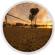 Volley Sunrise  Round Beach Towel