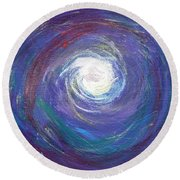 Vortex Of Love Round Beach Towel