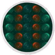 Vortices Round Beach Towel