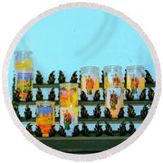Votives Santa Barbara Round Beach Towel