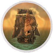 The Voyage Of The Dawn Treader Round Beach Towel