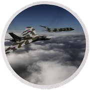 Vulcan And Victor  Round Beach Towel