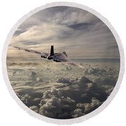 Vulcan Farewell  Round Beach Towel