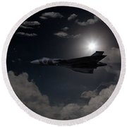 Vulcan Moon  Round Beach Towel