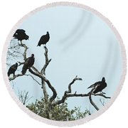 Vulture Club Round Beach Towel