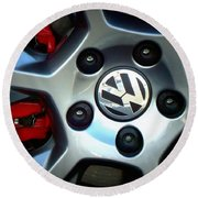 Vw Gti Wheel Round Beach Towel