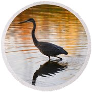 Wading For You Round Beach Towel