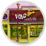 Wag A Posh Pet Store Cafe For Spoiled Pets The Glebe Paintings Of Old Ottawa South Carole Spandau  Round Beach Towel