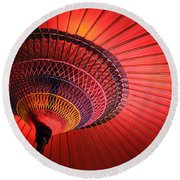 Wagasa Round Beach Towel by Delphimages Photo Creations