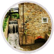 Wagner Grist Mill Round Beach Towel