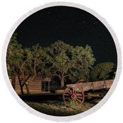 Wagon And Stars 2am 115859and115863_stacked Round Beach Towel