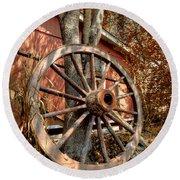 Wagon Wheel Round Beach Towel