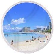 Waikiki Beach Round Beach Towel