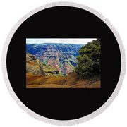 Waimea Canyon - Kauai Round Beach Towel