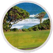 Wailua Golf Course - Hole 17 - 2 Round Beach Towel