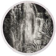 Wailua Waterfall 3 Round Beach Towel