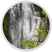 Wailua Waterfall Round Beach Towel