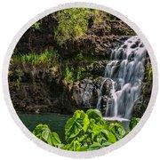 Waimea Falls Round Beach Towel