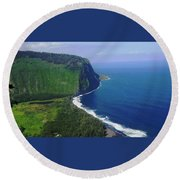 Waipio Valley Round Beach Towel