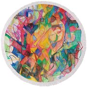 Waiting According To Intuition 1 Round Beach Towel