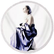 Waiting For Guidance Round Beach Towel