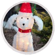 Waiting For Santa Round Beach Towel